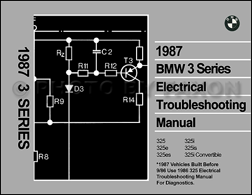 1987 Bmw 325 Electrical Troubleshooting Manual 325i 325e 325is 325es Wiring Diag