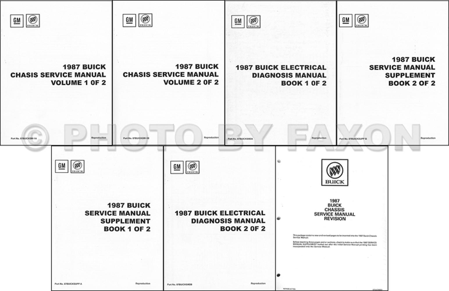1987 Buick  U0026 Grand National Repair Shop Manual Set