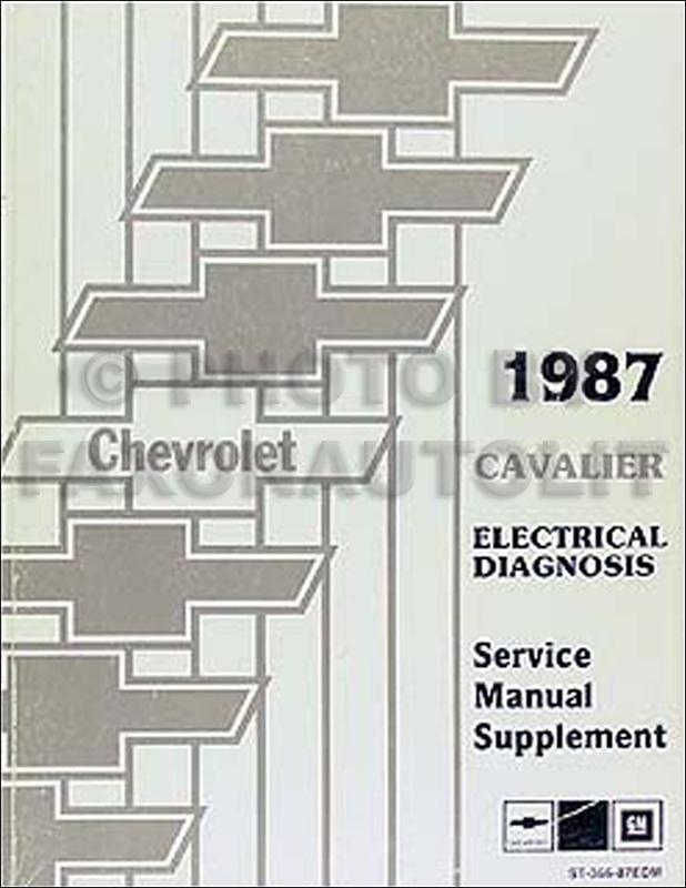 1987 chevy cavalier electrical diagnosis manual original. Black Bedroom Furniture Sets. Home Design Ideas
