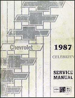 1987 chevy celebrity electrical diagnosis manual original. Black Bedroom Furniture Sets. Home Design Ideas