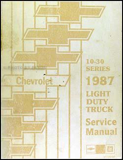 1987 Chevy Truck Repair Shop Manual Original Pickup Blazer Suburban Van FC
