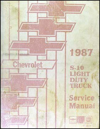 1987 chevrolet s10 pickup and blazer repair shop manual. Black Bedroom Furniture Sets. Home Design Ideas