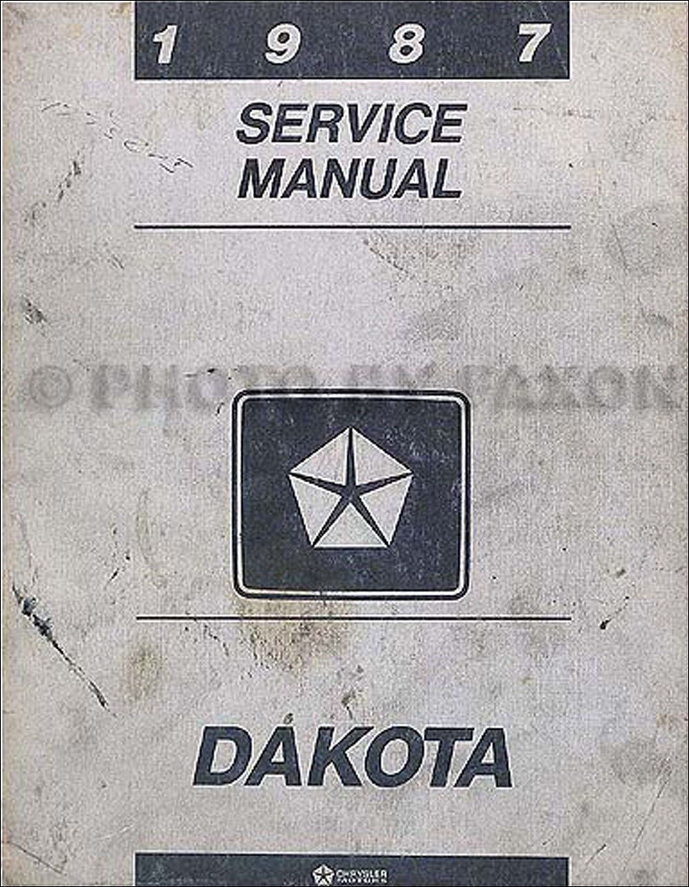 1987 Dodge Dakota Repair Manual Original