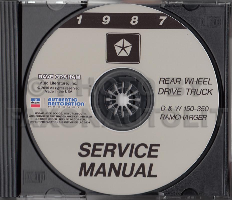 1987 dodge pickup truck ramcharger repair shop manual. Black Bedroom Furniture Sets. Home Design Ideas