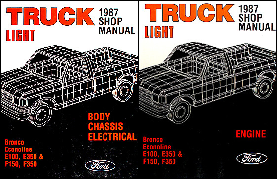 1987 ford pickup truck repair shop manual econoline van f150 f250 2000 ford f-250 wiring diagram 1987 ford pickup truck repair shop manual econoline van f150 f250 f350 bronco