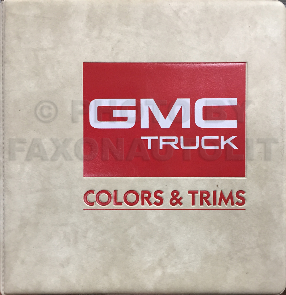 1987 Chevy  Gmc S  T Wiring Diagram Manual Original Pickup