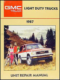 1987 GMC 1/2, 3/4, & 1 ton Truck Overhaul Manual Original