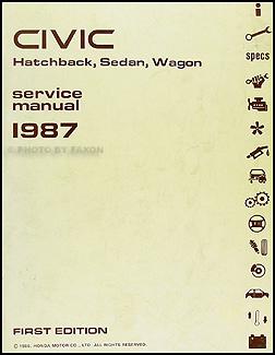 1987 honda civic hatchback sedan wagon repair shop manual original rh faxonautoliterature com 88 Honda Civic honda civic 84-87 manual