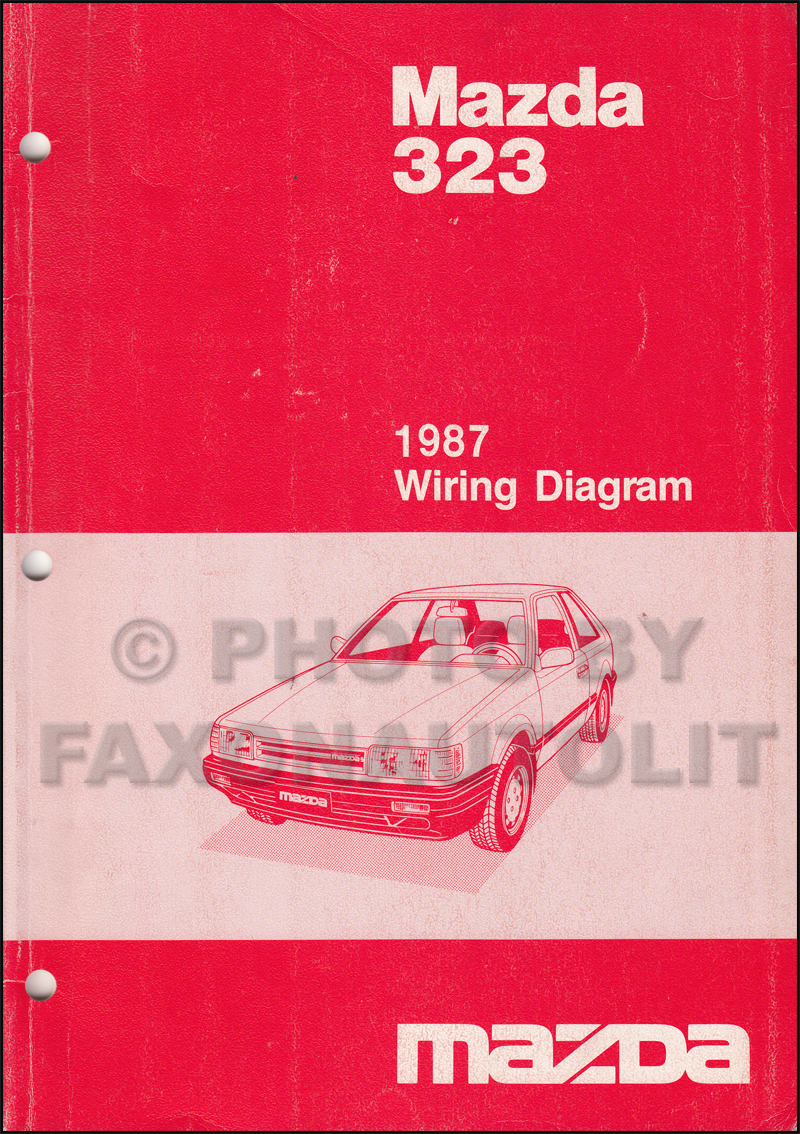 1987 Mazda 323 Sedan And Hatchback Wiring Diagram Manual Original 1958 Opel