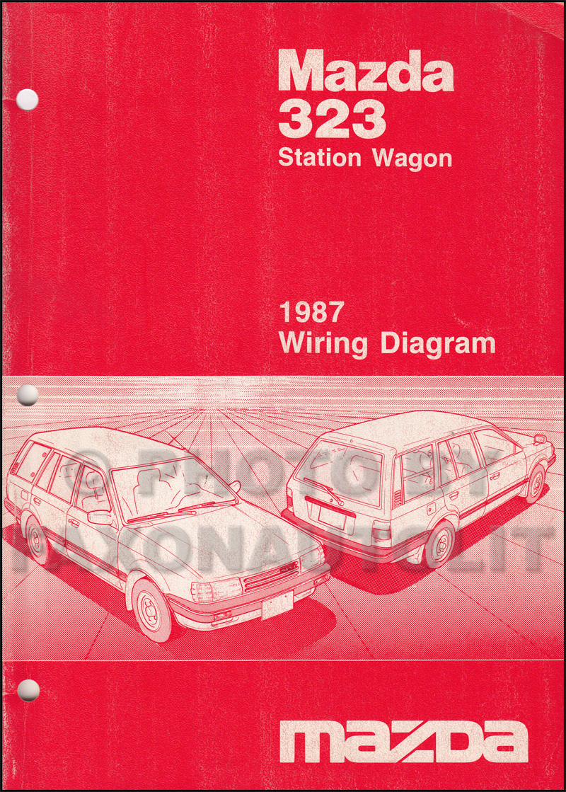 1987 mazda 323 station wagon wiring diagram manual original. Black Bedroom Furniture Sets. Home Design Ideas