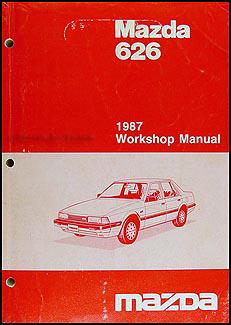 1987 mazda 626 repair shop manual original rh faxonautoliterature com Mazda 626 Transmission Mazda 626 Transmission
