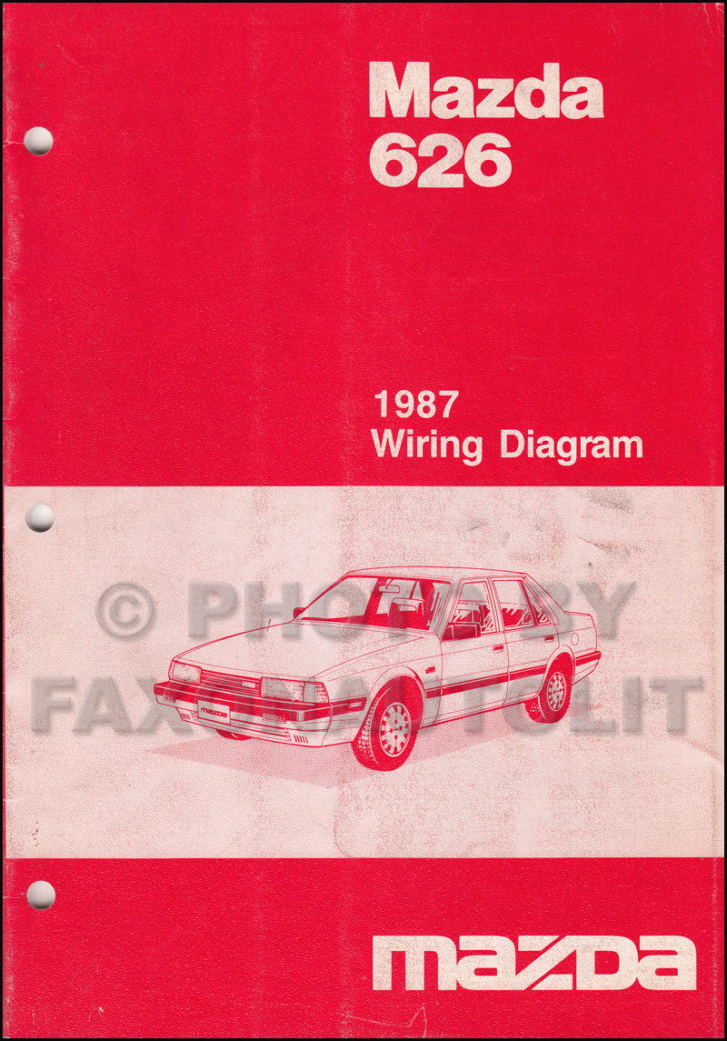 1987 mazda 626 wiring diagram manual original rh faxonautoliterature com 2002 Mazda 626 Radio Wiring Diagram 2001 Mazda 626 Radio Wiring Diagram