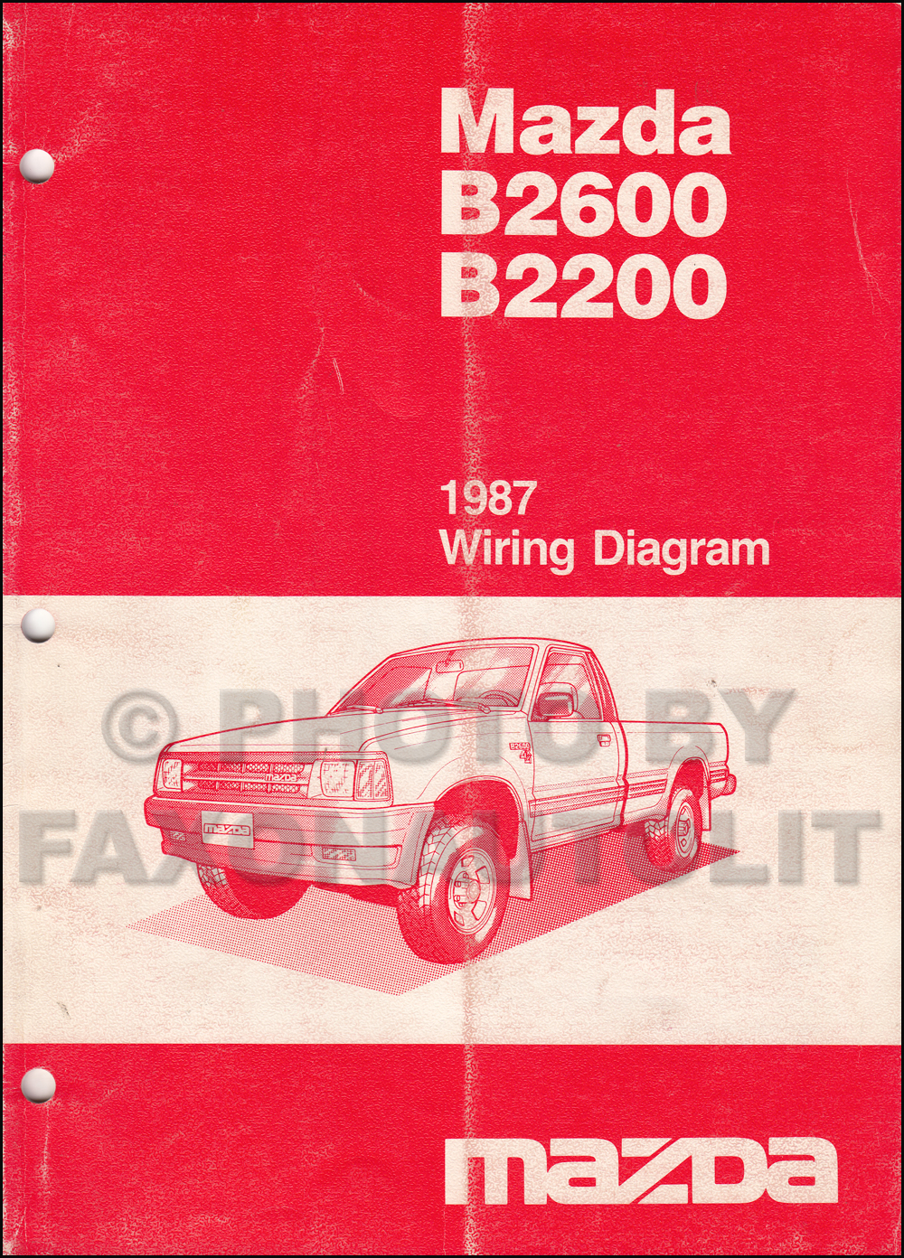 1987MazdaB2600B2200OWD search Mazda B3000 Fuse Box Diagram at gsmx.co