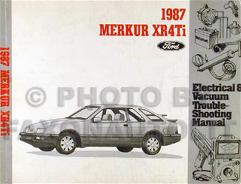 1987 merkur xr4ti electrical vacuum troubleshooting manual original