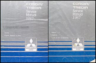 1987 Mitsubishi CordiaTredia Repair Shop Manual Set Original