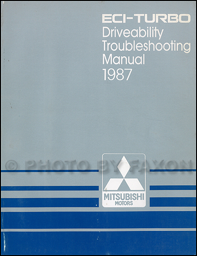 1987 Mitsubishi ECITurbo Engine Driveability Troubleshooting Manual