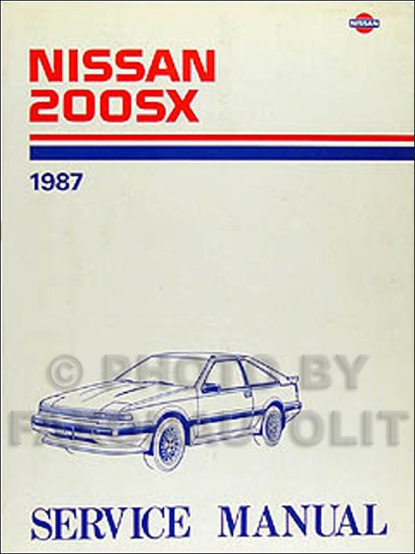 1987 nissan 200sx repair shop manual original rh faxonautoliterature com nissan 200sx manual transmission for sale nissan 200sx s14 service manual