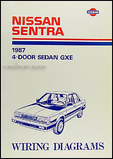 1987 nissan sentra wiring diagram manual original rh faxonautoliterature com Nissan Wiring Harness Diagram nissan sunny b12 wiring diagram