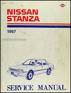 1987 nissan stanza repair shop manual original. Black Bedroom Furniture Sets. Home Design Ideas