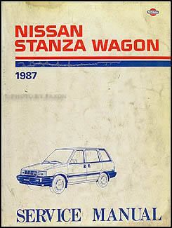 1987 nissan stanza wagon repair shop manual original rh faxonautoliterature com 1986 Nissan Stanza Tricked Out 88 Nissan Stanza