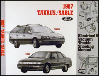 1987 Ford Taurus Mercury Sable    Wiring       Diagram    Original