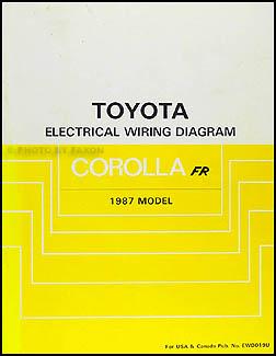 1987    Toyota       Corolla       RWD       Wiring       Diagram    Manual Original