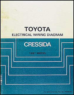 1987 Toyota Cressida Wiring Diagram Manual Original