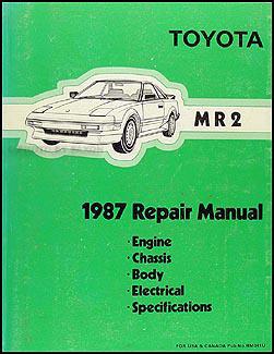 1987 toyota mr2 repair shop manual original rh faxonautoliterature com 1992 Toyota Supra 1985 Toyota MR2