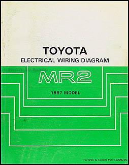1987 toyota mr2 wiring diagram manual original rh faxonautoliterature com