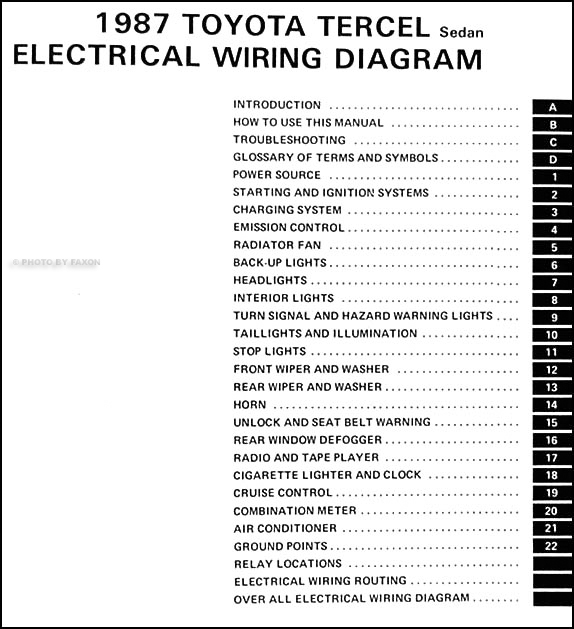 1987ToyotaTercelWD TOC 1987 toyota tercel sedan wiring diagram manual original