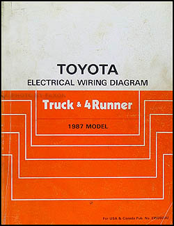1987 Toyota Truck & 4Runner Wiring Diagram Manual Original