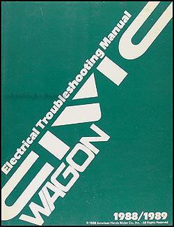 1990 Honda Civic Wagon Electrical Troubleshooting Manual Original
