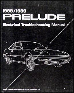 1988 1989 honda prelude electrical troubleshooting manual original rh faxonautoliterature com 99 Honda Prelude Radiator Diagram B20A3 Wiring-Diagram 88