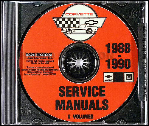 1988 1990 chevrolet corvette service manuals on cd rom rh faxonautoliterature com 1989 corvette repair manual online 1990 Corvette