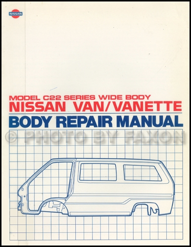 1988 nissan van wiring diagram manual original 1987 1990 nissan van body repair shop manual original