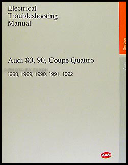 1988-1992 Audi 80 and 90 Electrical Troubleshooting Manual