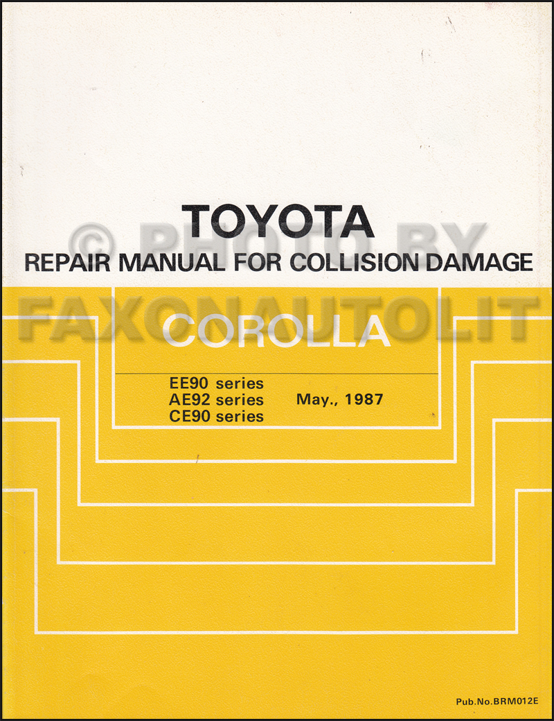19881992 Toyota Corolla Body Collision Manual Original