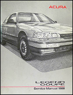 1988 Acura Legend Coupe Shop Manual Original