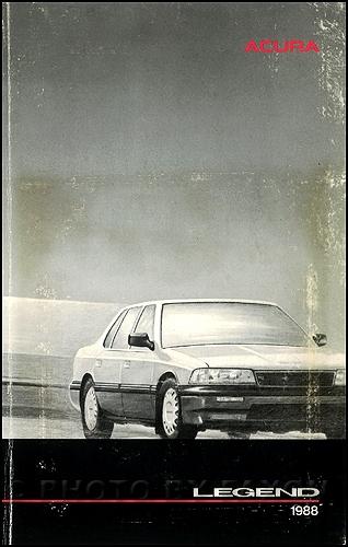 1988 acura legend owners manual original 4 door sedan 1998 Acura Legend 1993 Acura Legend