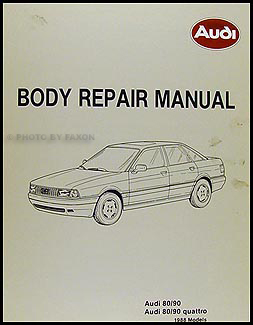 audi 90 quattro service manuals shop owner maintenance and 1988 audi 80 and 90 body manual original