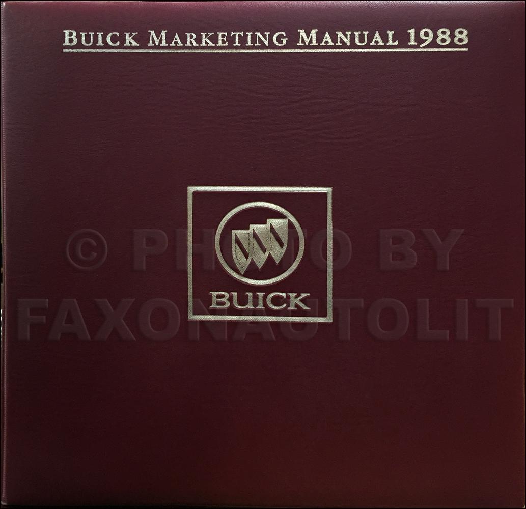 1988 Buick Color & Upholstery Dealer Album/Data Book Original