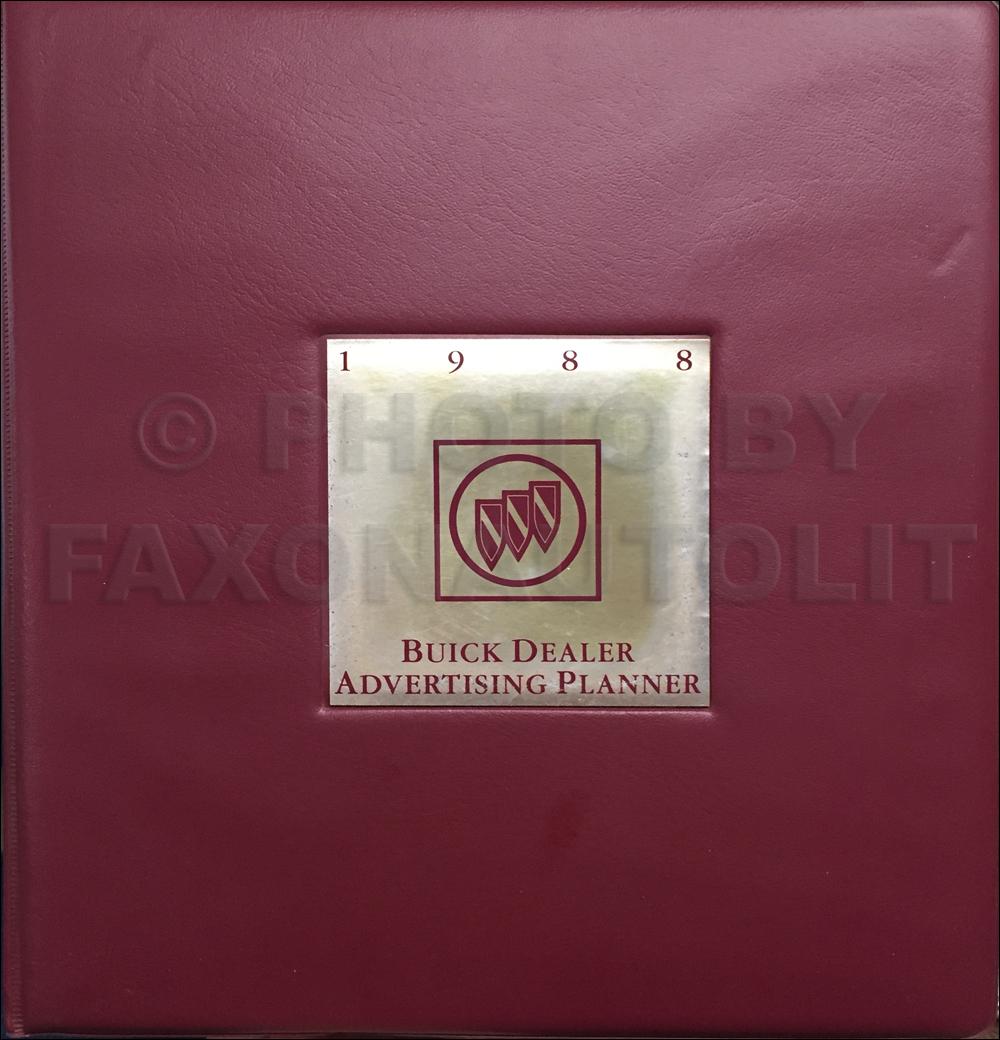 1988 Buick Dealer Advertising Planner Original
