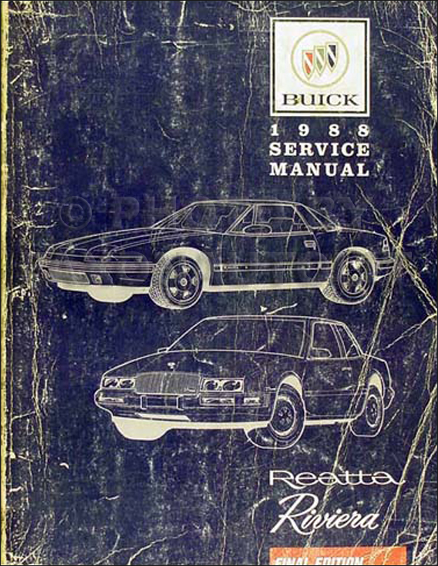 1988 Buick Riviera And Reatta Original Shop Manual Repair