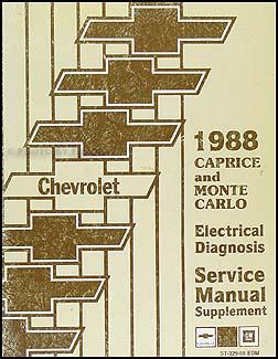 1988 chevy caprice electrical diagnosis manual original. Black Bedroom Furniture Sets. Home Design Ideas