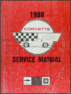 1988 Corvette Shop Manual Original