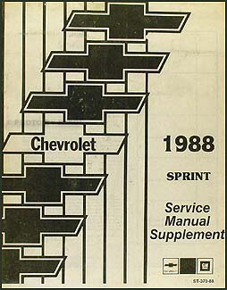 1987 chevy sprint repair shop manual original rh faxonautoliterature com 87 Chevy Sprint Turbo Specs Chevrolet Sprint