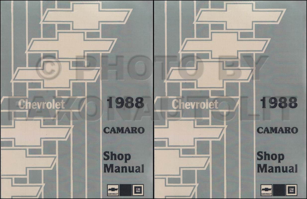 1988 Chevy Camaro Electrical Diagnosis Manual Original