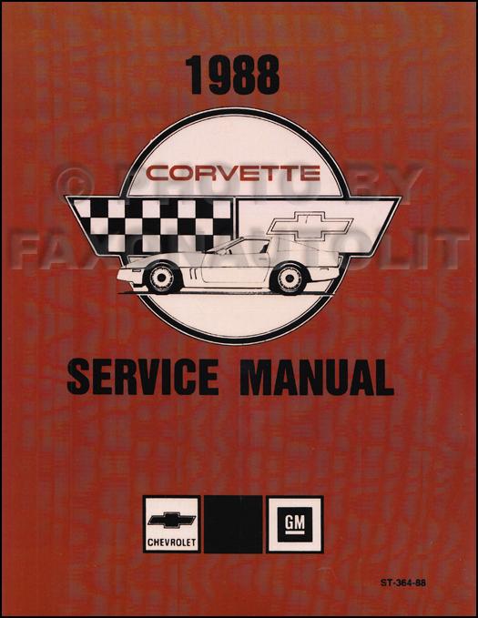 1988 Corvette Shop Manual Original