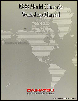 1988 Daihatsu Charade Original Repair Manual