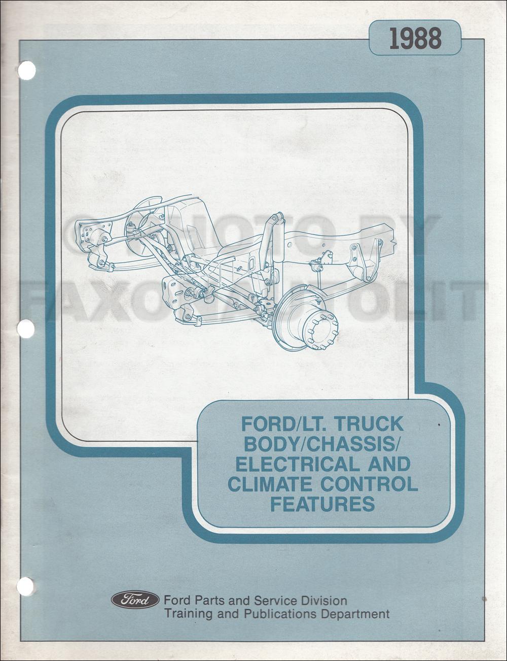 1988 Ford Bronco  F150 F250 F350  Super Duty Foldout